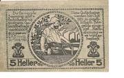 5 Heller (Sierning) – revers