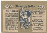 90 Heller (Hochfilzen in Tirol) – avers