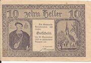 10 Heller (Holzhausen) – avers