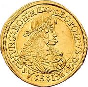 2 ducat Leopold I (Graz) -  avers