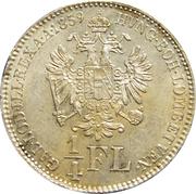 ¼ florin Franz Joseph I -  revers