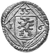 1 pfennig Ferdinand II (Graz) – avers