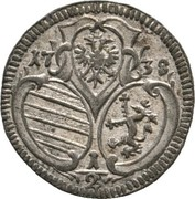 ½ kreuzer Charles VI (Graz) – avers
