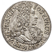 3 kreuzer Joseph I (Hall) -  avers