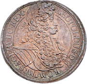 1 thaler  Leopold I (Vienne) -  avers