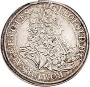 ½ thaler Leopold I (Vienne) -  avers