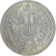 20 kreuzer Franz Joseph I -  revers