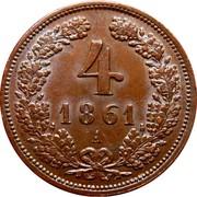 4 kreuzer Franz Joseph I -  revers
