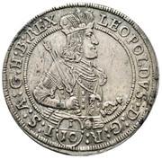 1/10 thaler Leopold I (Hall) -  avers