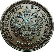 1 kreuzer Franz Joseph I -  avers