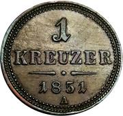 1 kreuzer Franz Joseph I -  revers