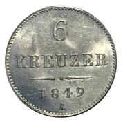 6 kreuzer Franz Joseph I -  revers