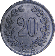 20 heller Karl I -  revers