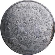 5 couronnes Franz Joseph I -  revers