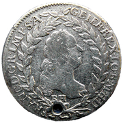 20 kreuzer Francois I (posthume) -  avers