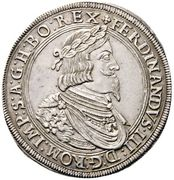 1 thaler Ferdinand III (Graz) – avers