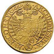 10 ducat Leopold I (Vienne) – revers