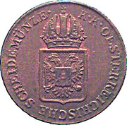 ½ kreuzer Francois I -  avers