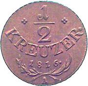 ½ kreuzer Francois I -  revers