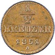 ½ kreuzer Franz Joseph I -  revers