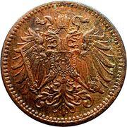 1 heller Franz Joseph I -  avers
