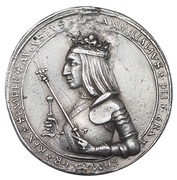double guldiner  Maximilian I (Hall) -  avers