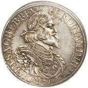1 thaler Ferdinand III (St Veit) -  avers