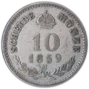 10 Kreuzer Franz Joseph I Autriche Habsbourg Numista