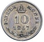 10 kreuzer Franz Joseph I -  revers