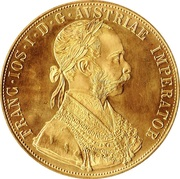 4 ducats Franz Joseph I -  avers