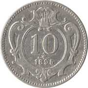 10 heller - Franz Joseph I -  revers