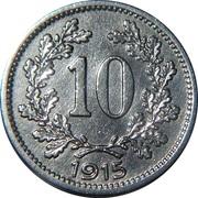10 heller  Franz Joseph I (blason avec lion et étoiles) -  revers