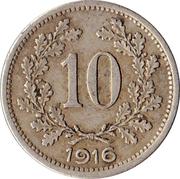 10 heller  Karl I -  revers