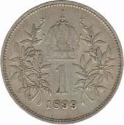 1 couronne  Franz Joseph I -  revers