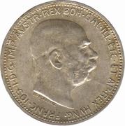 1 couronne François-Joseph I -  avers