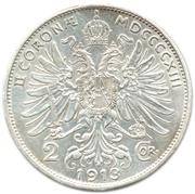 2 couronne Franz Joseph I -  revers