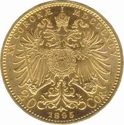 20 couronne Franz Joseph I -  revers