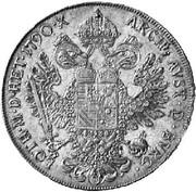 1 thaler Léopold II (Vienne) -  revers