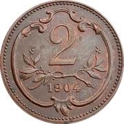 2 heller  Franz Joseph I -  revers