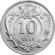 10 heller Franz Joseph I -  revers