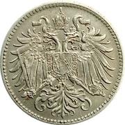 10 heller  Franz Joseph I (blason avec lion et étoiles) -  avers