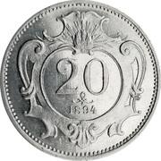 20 heller Franz Joseph I -  revers
