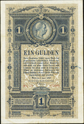 1 Gulden - Franz Joseph I -  avers