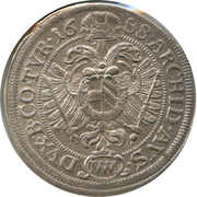 6 kreuzer Leopold I (Vienne) -  avers