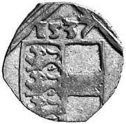 1 pfennig Ferdinand I (Klagenfurt) – avers