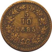 5/10 kreuzer Franz Joseph I -  revers