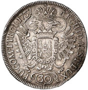 30 kreuzer Charles VI (Vienne) -  revers
