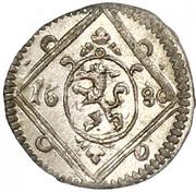 1 pfennig Leopold I (Graz) – avers
