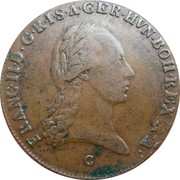 3 kreuzer Francois II -  avers