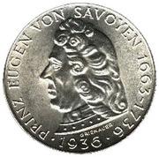 2 schilling Prince Eugène de Savoie – revers